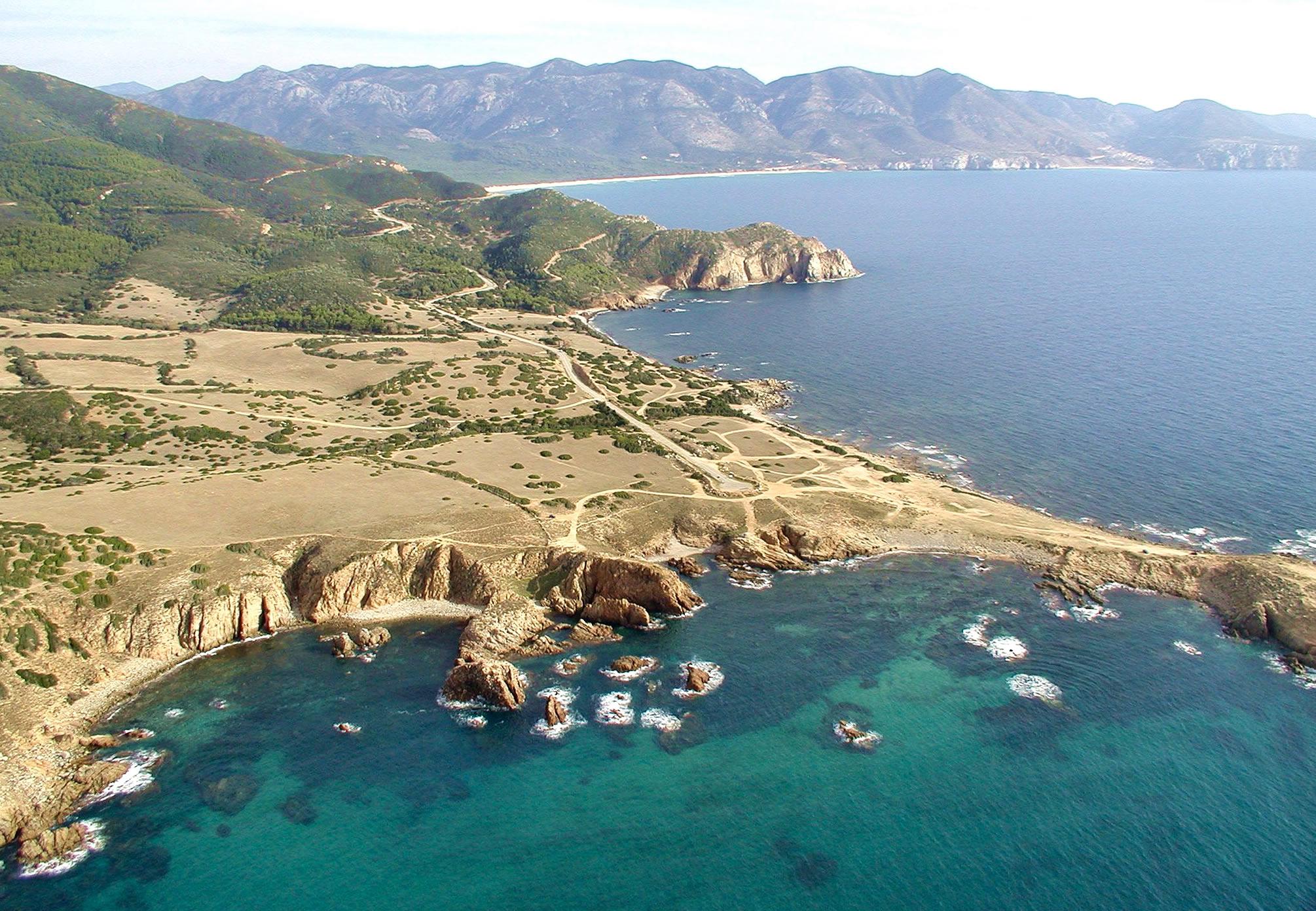La spiaggia di Capo Pecora